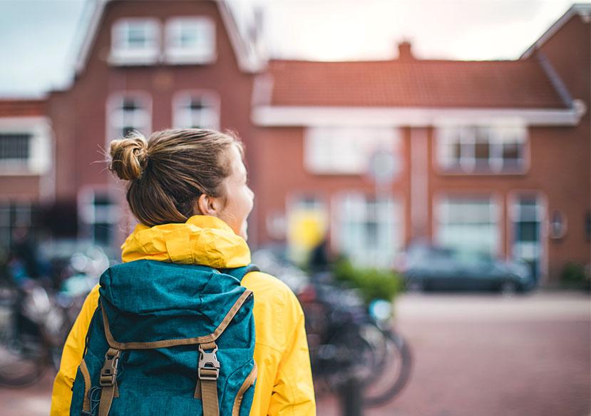 Female Walking to School